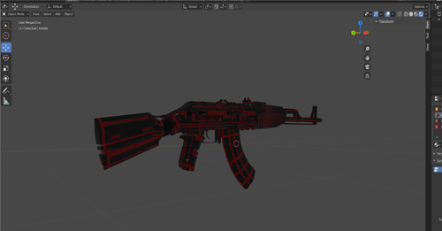 sci-fi Ak47 preview image