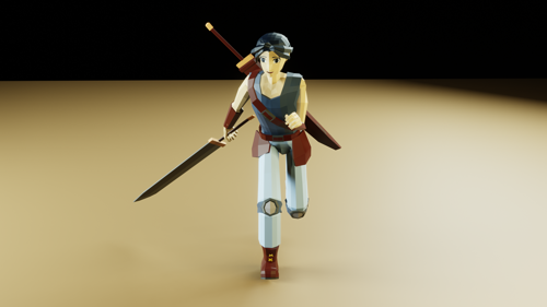 Lowpoly Character Swords Man preview image
