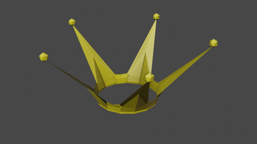 Low poly crown preview image