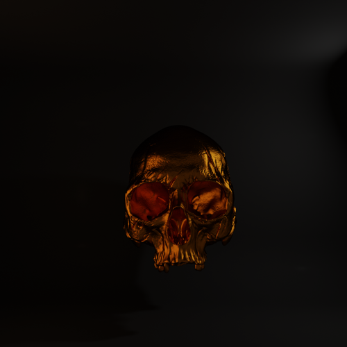 Metallic Gold Skull preview image