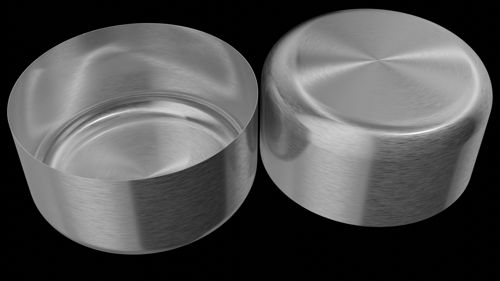 Cylindrical Brushed Metal preview image