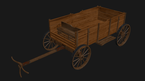 Wooden waggon preview image