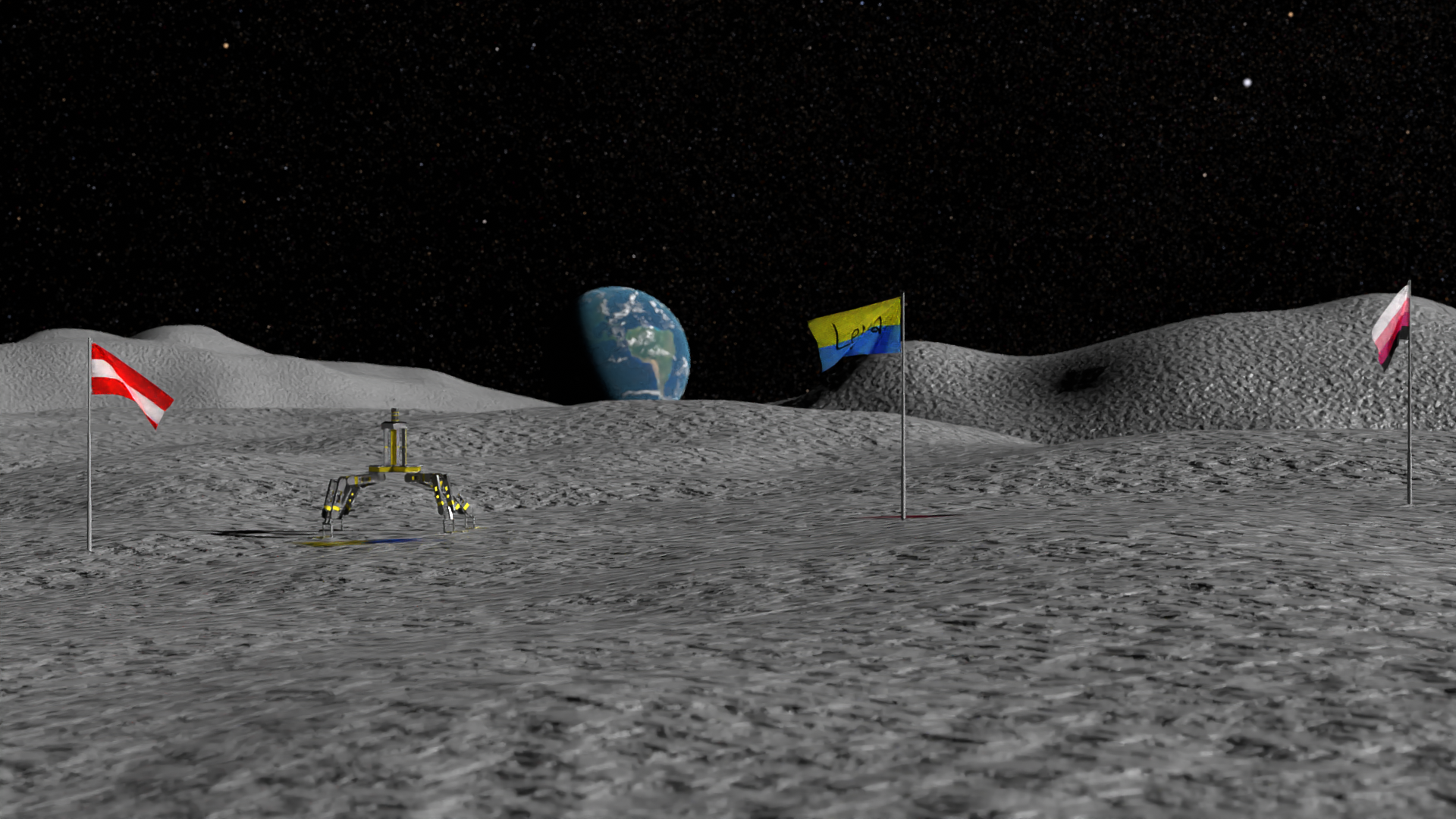 Moon with Flags preview image 1
