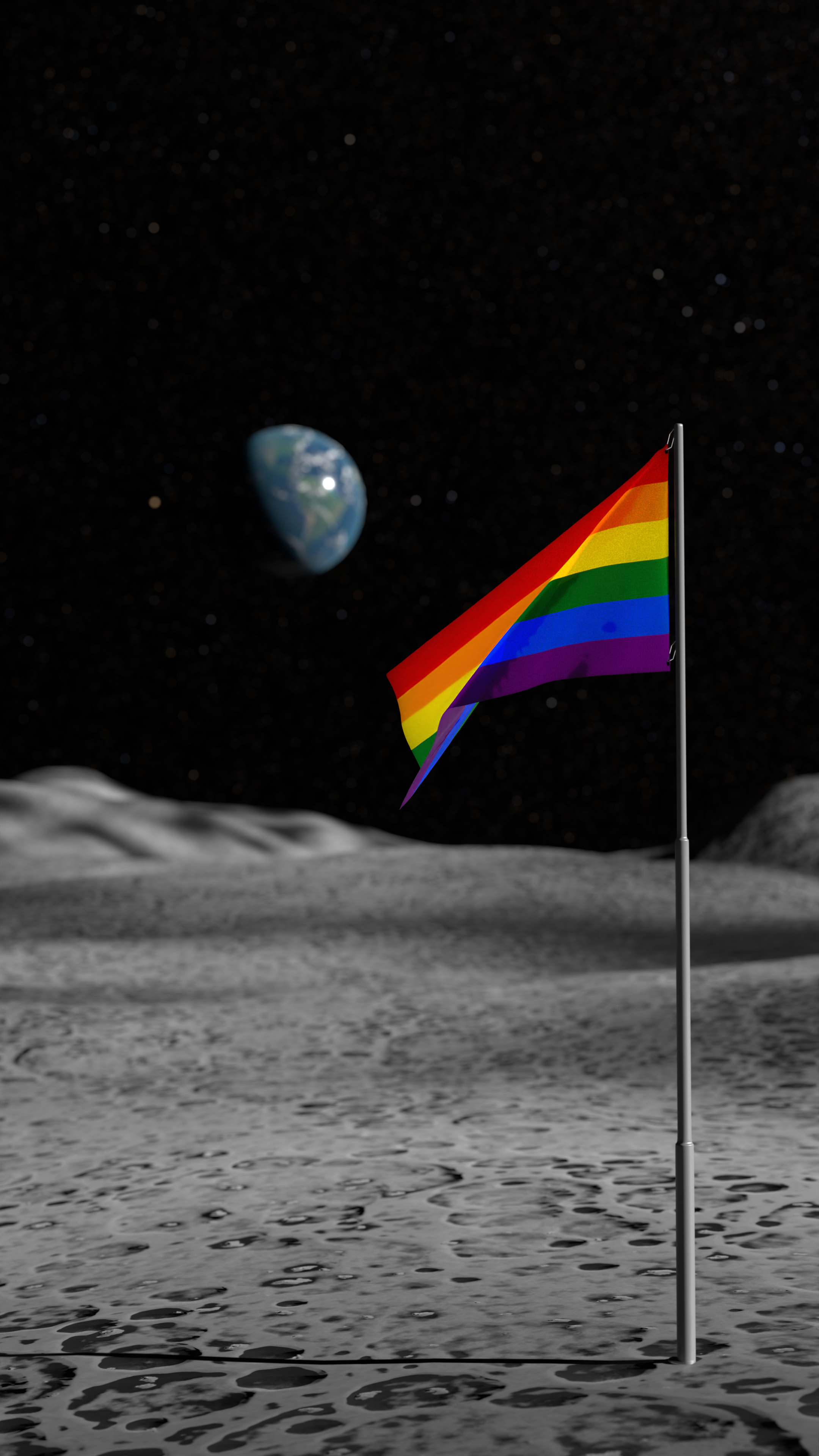Moon with Flags preview image 2