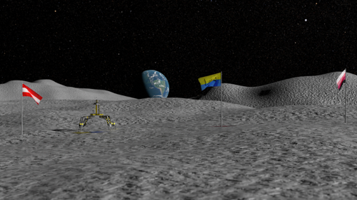Moon with Flags preview image