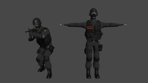 Rigged SWAT Officer preview image