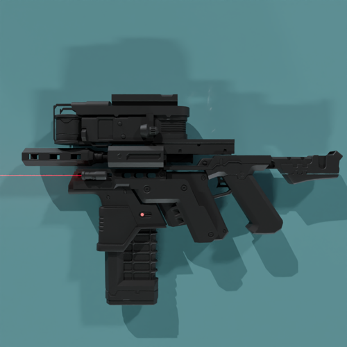 scifi gun (Game Ready) preview image