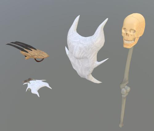 Ninja Claws and Bone Weapons preview image