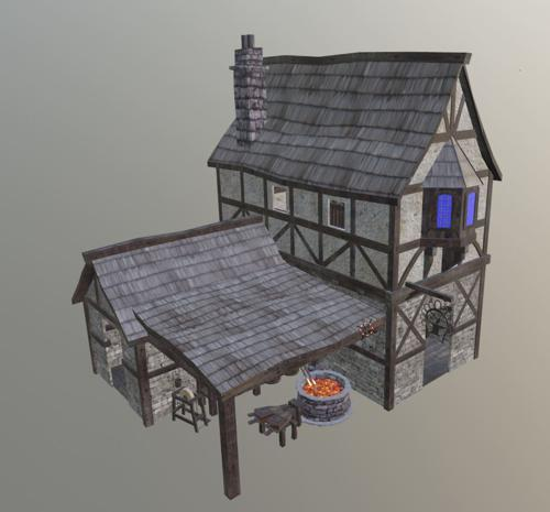 Medieval Blacksmith Interior preview image