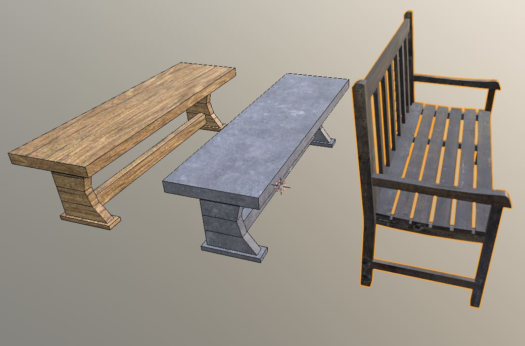 Medieval Benches preview image 1