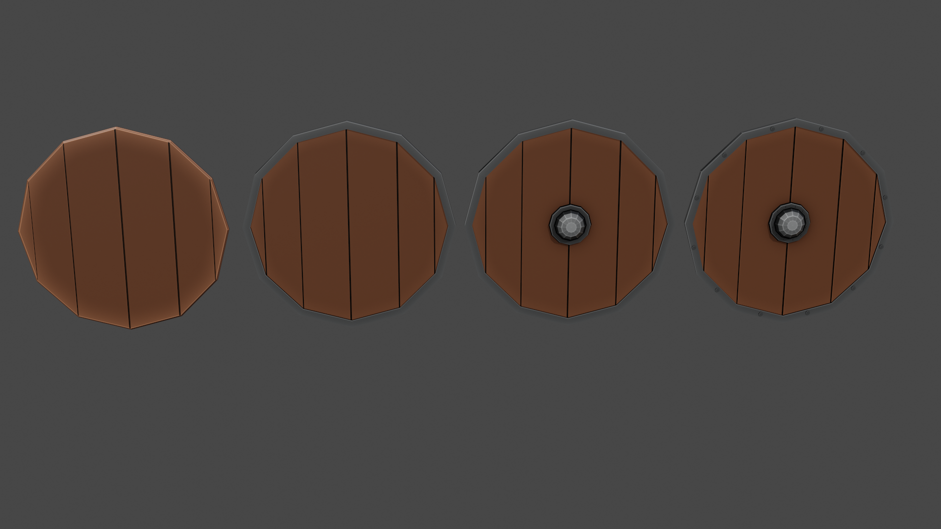 Low Poly Medieval Shields preview image 1