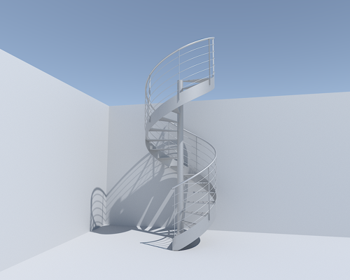 simple spiral stair preview image