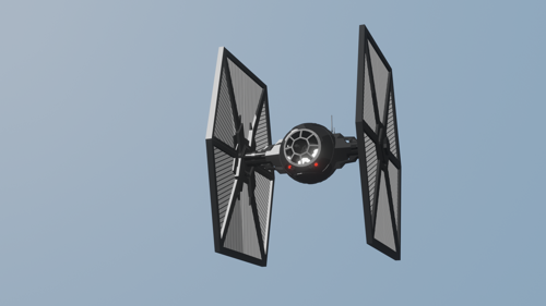 Tie Fighter (cartoon shaded) preview image