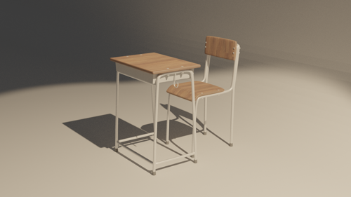 Asia school style desk and chair preview image