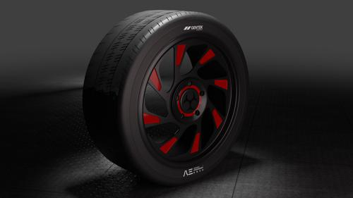 Sporty Wheel and Tire preview image
