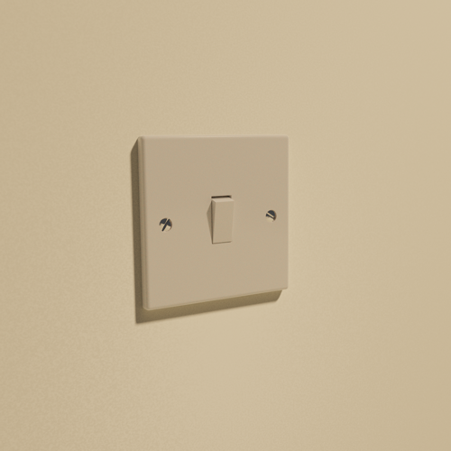 UK Single Light Switch preview image