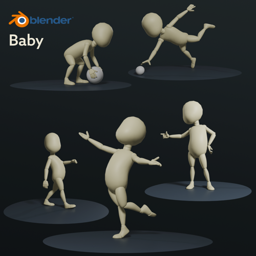 """Baby 2""  Rig ( Rigify ) preview image"