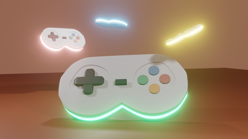 glowing gampad  preview image