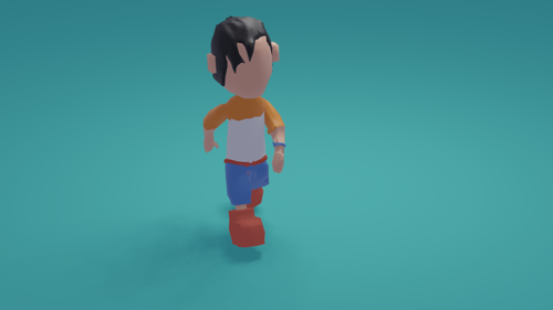 free model lowpoly guy big shoes (rigged) preview image