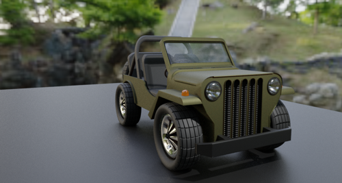 Basic Jeep car model preview image