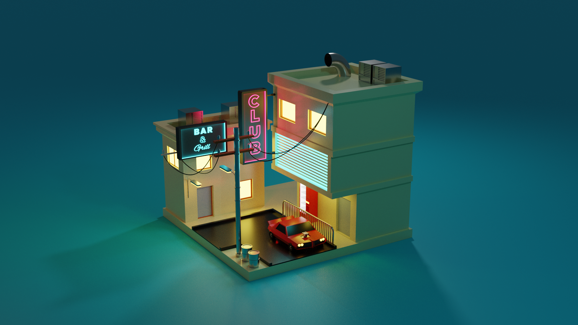 LOW POLY STREET preview image 1