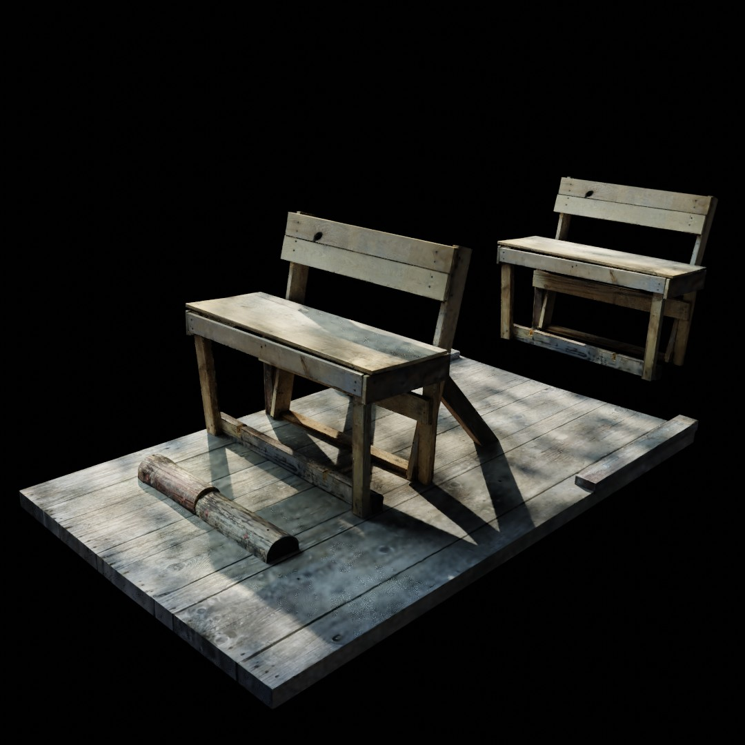 wooden bench preview image 1
