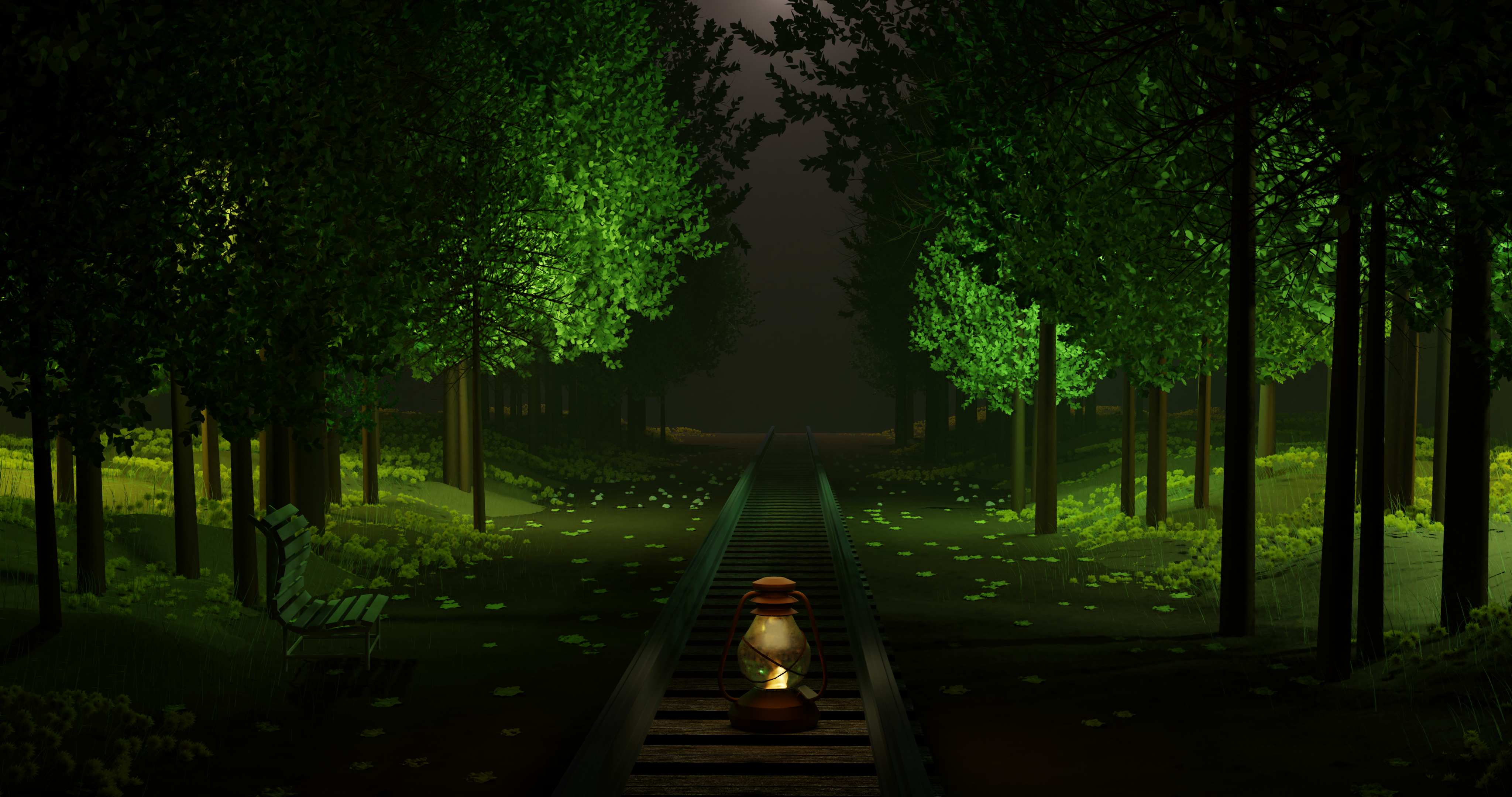 Railway Track Scene preview image 1
