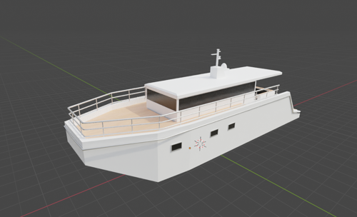 Boat Low Poly preview image