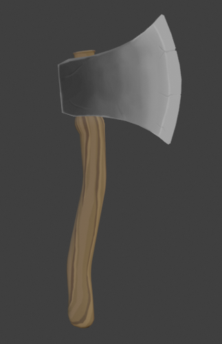 Stylized axe preview image