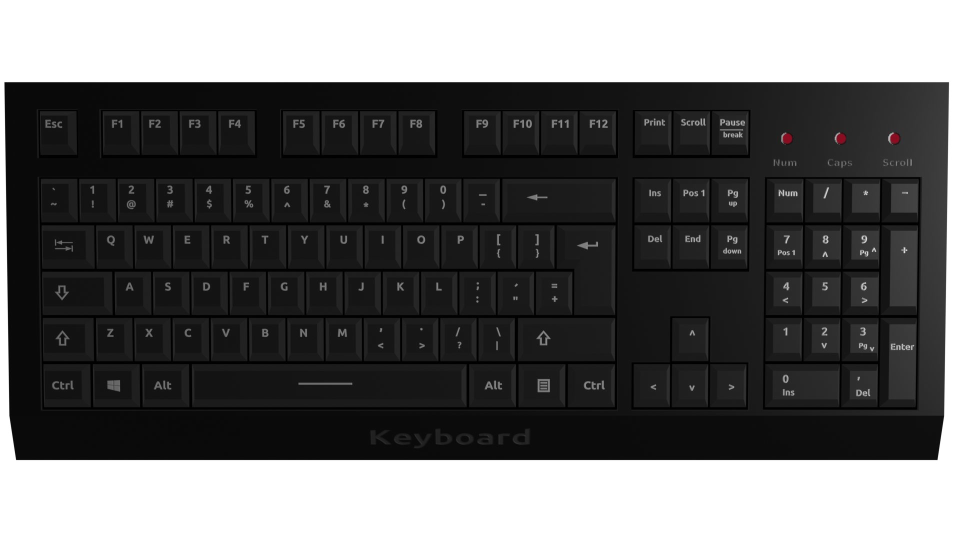 Simple Keyboard (Low Poly) preview image 2