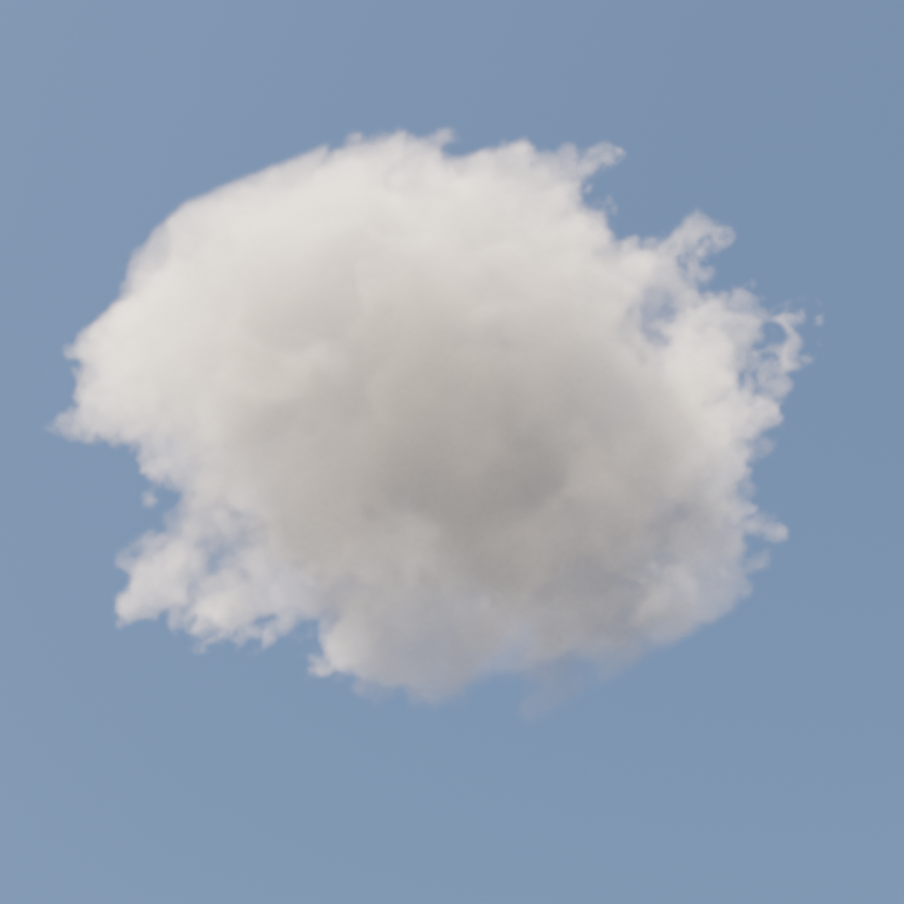 Procedural Cloud For Cycles (Easy Customization) preview image 1