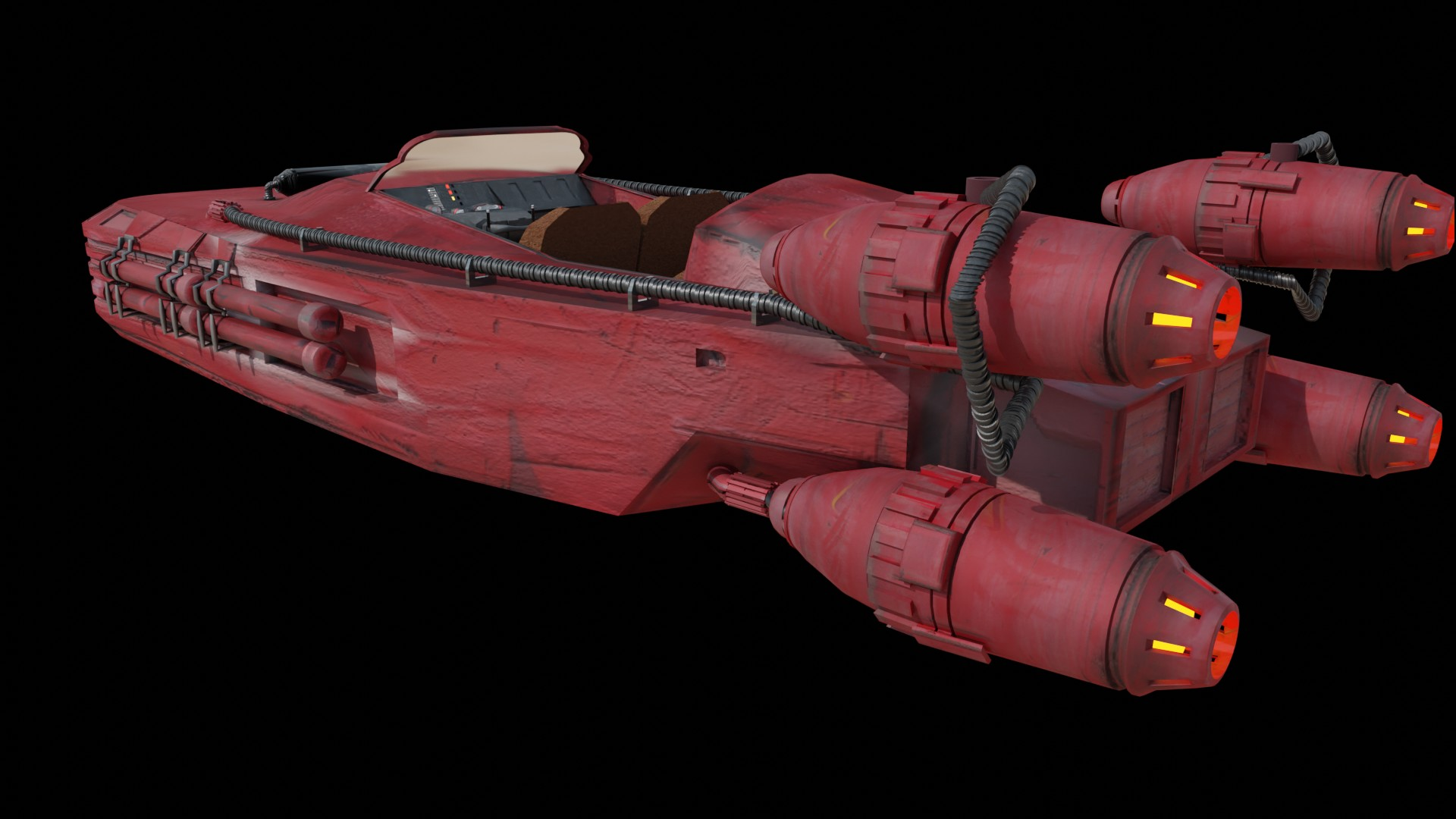 speeder star wars fan art preview image 1