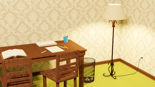 Lamp and desk preview image