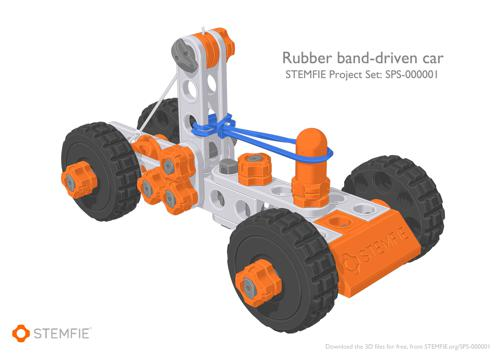 STEMFIE rubber-band-driven car preview image