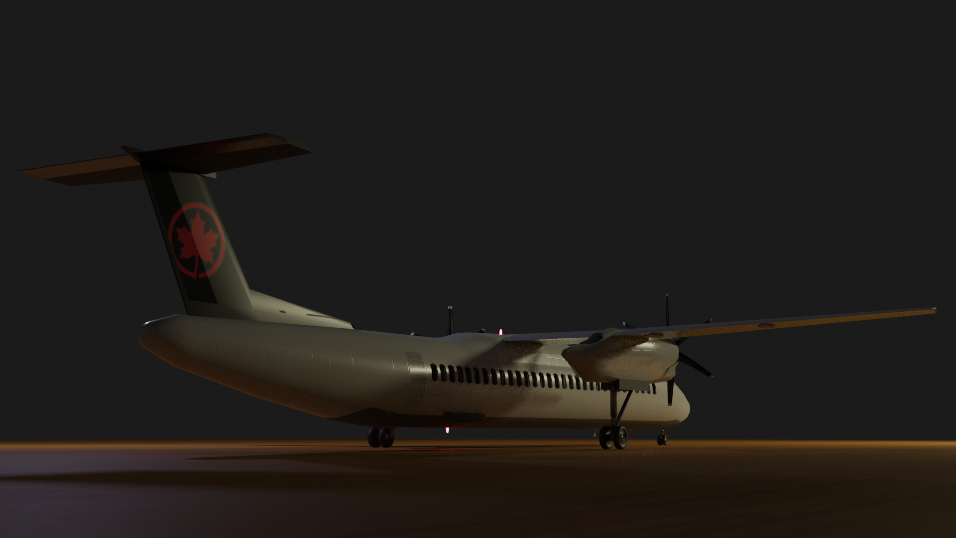Dash-8 q400 with cockpit preview image 2