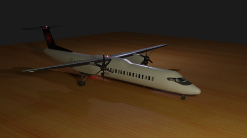 Dash-8 q400 with cockpit preview image