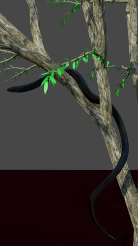 Black snake on tree preview image