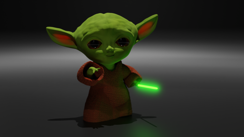 Toddler Yoda revised February 2020 by Blender CGI preview image