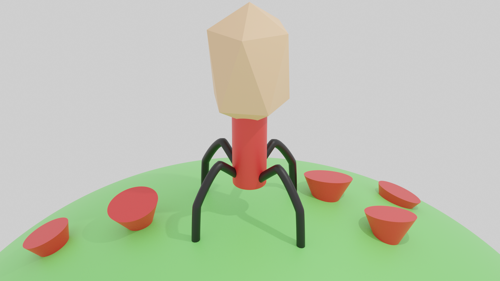 Rigged Bacteriophage preview image