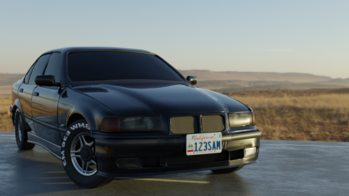 Imperfect Black BMW E36 preview image