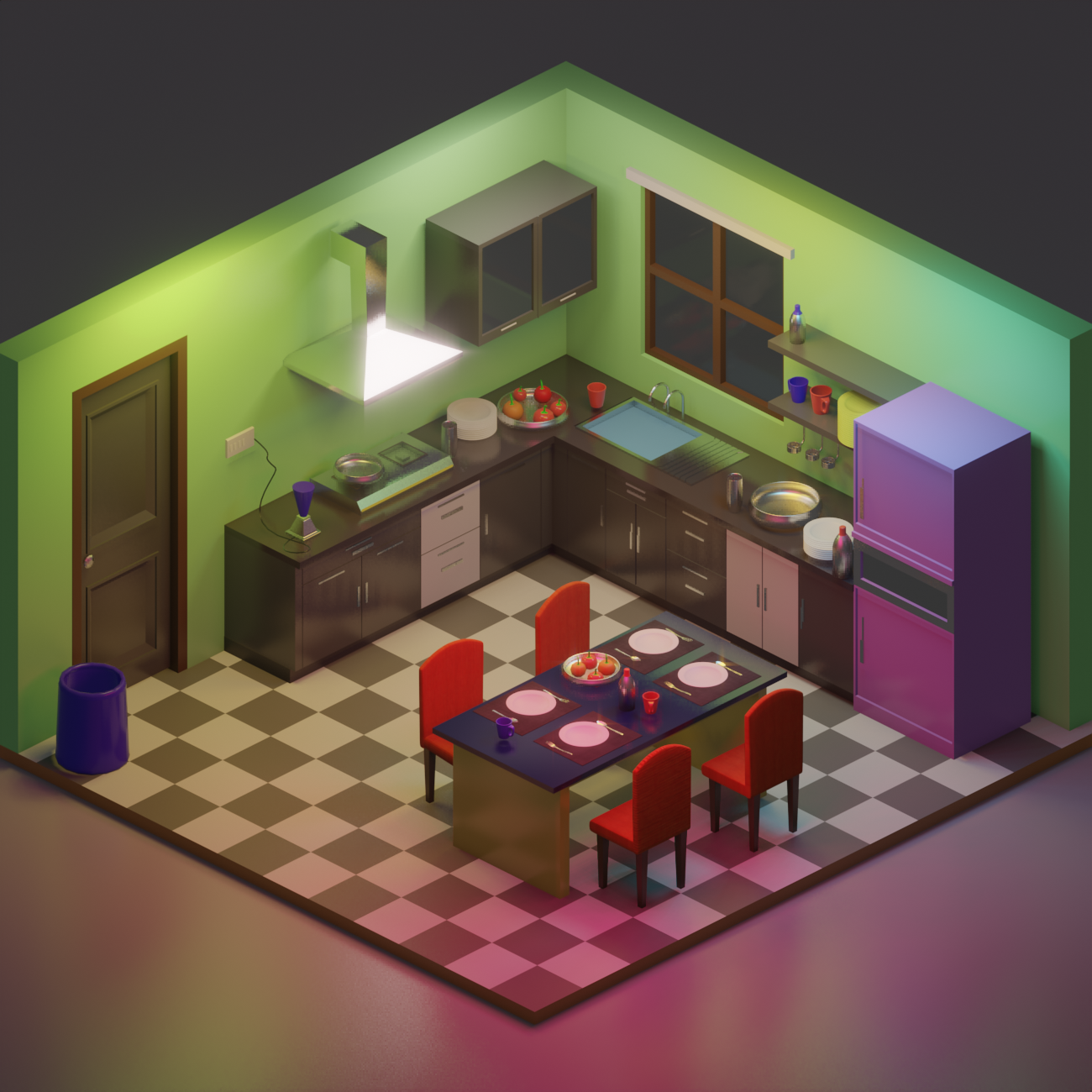 Low Poly Kitchen preview image 1