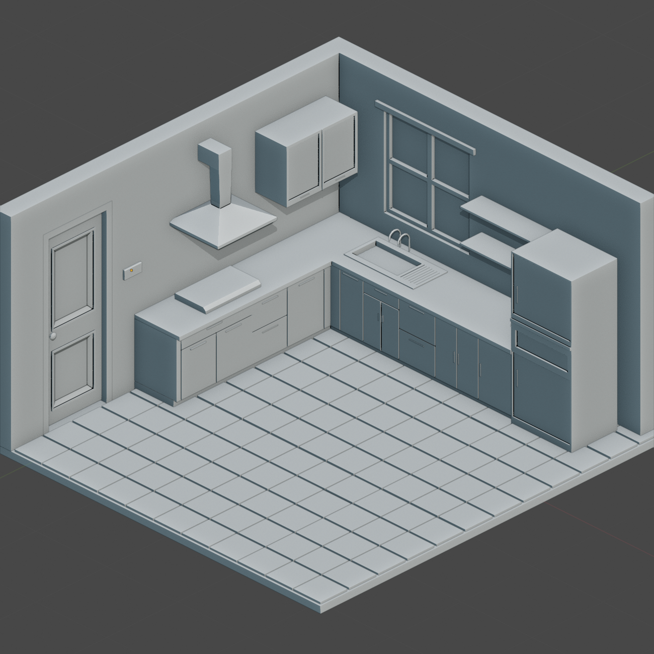 Low Poly Kitchen preview image 2
