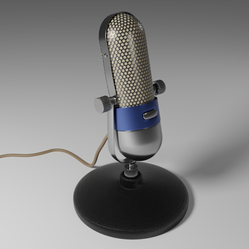 Vintage microphone preview image
