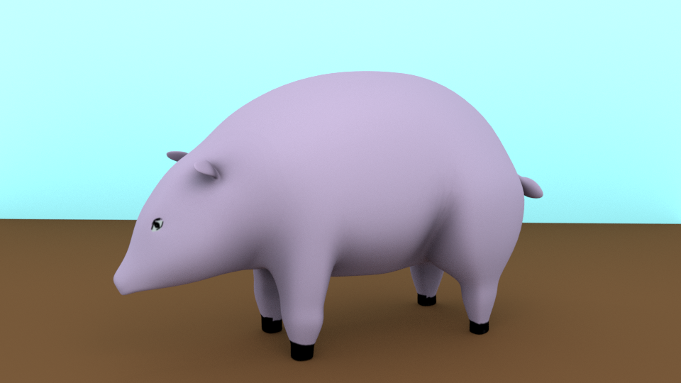 low poly PIG preview image 1
