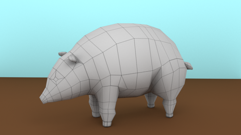 low poly PIG preview image 2