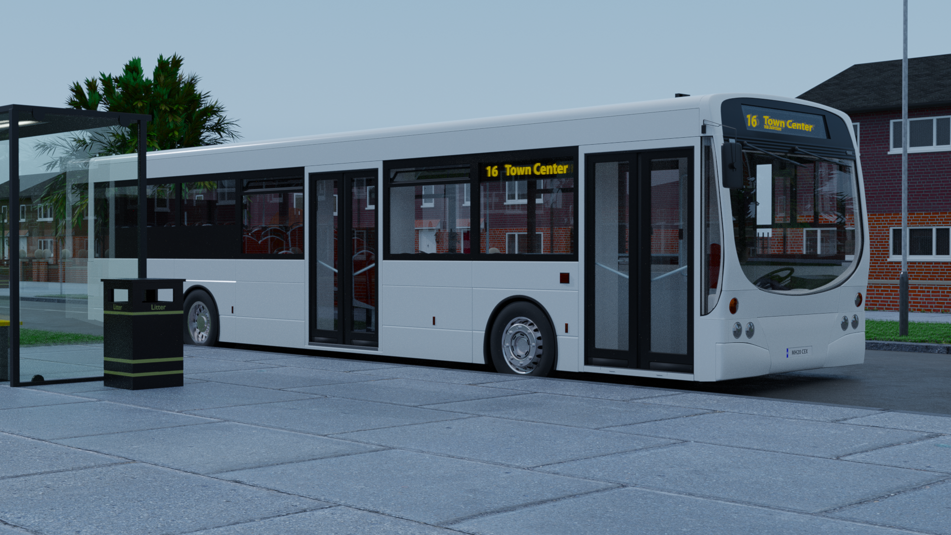 Transit Bus | Two Service Doors preview image 1