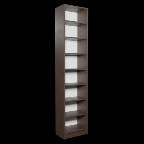 Dark Narrow Bookshelf preview image