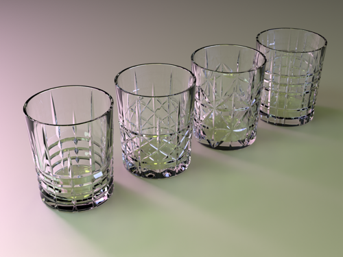Set of Four Whiskey Glasses preview image