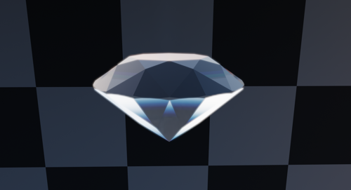Diamond mesh and shader for fast render preview image