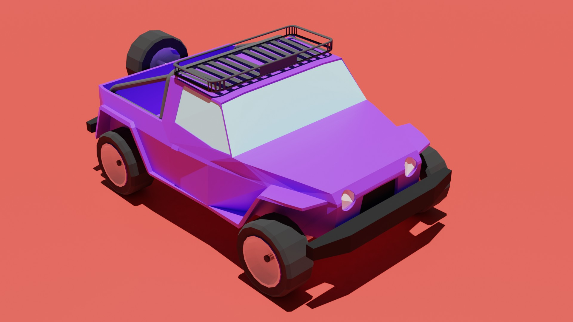 Low poly jeep preview image 1